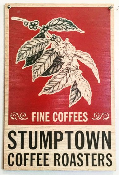 We serve Stumptown Coffee